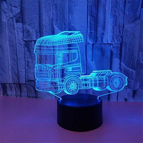 Camión luz de noche led lámpara de camión 3d para niño regalo de bebé decoración del hogar iluminación para dormitorio lampara creativa luces de coche luminaria
