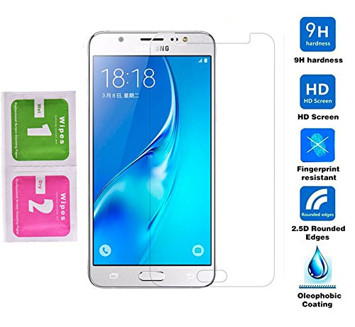 MUNDDY Protector de Pantalla para Samsung Galaxy J3 2016,J310, Cristal Vidrio Templado Espesor 0,30 mm, 2.5D Round Edge, [9H Dureza] [Alta Transparencia] [Sin Burbujas]