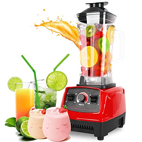 Elektrische Blender, Mini Ice Crusher Juicers Wide Mouth Easy Clean 3 Speed ​​Control 1800W voor Juice Shakes en Smoothie Fruit & Vegetable Juicer Grinder