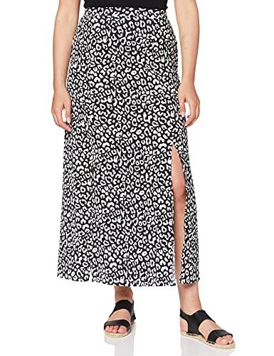 Marca Amazon - find. Falda Larga para Verano Mujer, Gris (Printed), 44, Label: XL