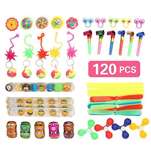 yuechen Surtido de 120 Juguetes para Rellenar piñatas y Bolsas de Regalo de Fiestas de cumpleaños Infantiles o para el Colegio