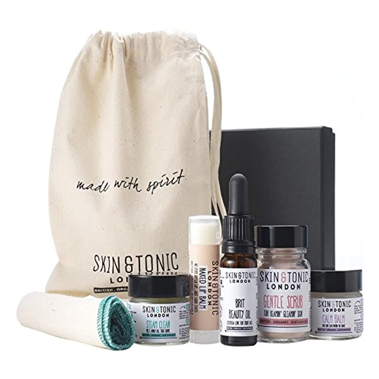 コンペとらえどころのないとらえどころのないスキン&トニックロンドン旅行キット x4 - Skin & Tonic London Travel Kit (Pack of 4) [並行輸入品]