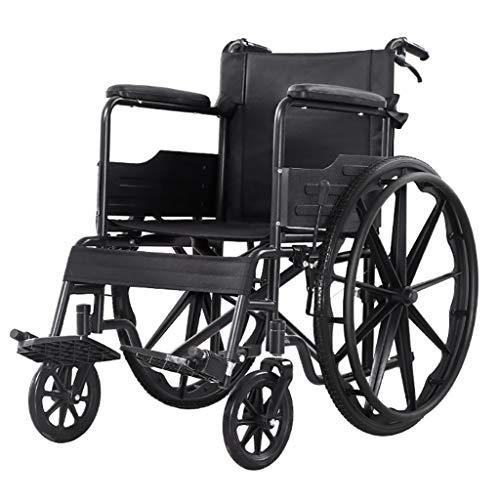 JINBAO Asiento Ortopédico Autopropulsado Plegable para Silla De Ruedas para Ancianos Y Silla De Transporte Portátil para Discapacitados con Reposabrazos El Reposapiés Móvil Es Ultraligero