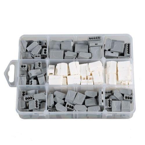 ViD® Steckklemmen I Verbindungsklemme GRAU-Sortiment Box 1-2,5 mm² 160 Stück