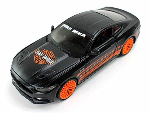 Maisto Ford Mustang GT, Orange/Black HD Custom 32188BK - 1/24 Scale diecast Model car