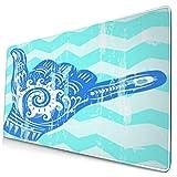 Großwild-Mauspad,Hang Loose Hand Signal Surf Handzeichen,Rutschfester Schreibtisch-Pad-Schutz,Schreibtisch-Schreibmatte für Desktop,Computer-Laptop,15.8'x29.5'