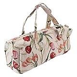 Bolsa grande de tela para agujas de tejer y accesorios Rosa rojo