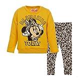 Disney Minnie Mouse Toddler Girls Fleece Long Sleeve T-Shirt Legging Set 3T Yellow