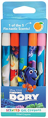 Scentco Finding Dory Sketch and Sniff Scented Gel Crayons, 5 Count