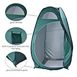 Outdoor Pop-Up Shower Privacy Shelter Tent, Waterproof Portable Set Up Toilet Changing Camping Beach Dresses Fitting Room with Carry Bag [US Stock]