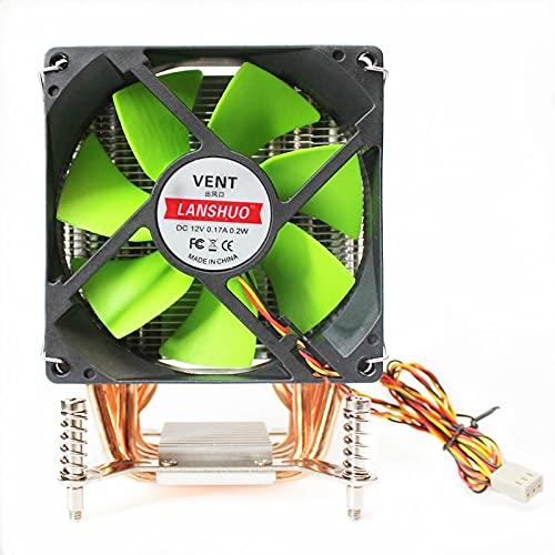 lizeyu Radiador de CPU de 6 Tubos de Cobre Ultra silencioso AMD AMD3 AM4 FM1 FM2 Placa Base Ventilador de refrigeración de CPU Ventilador único de 3 Cables Luces Multicolores
