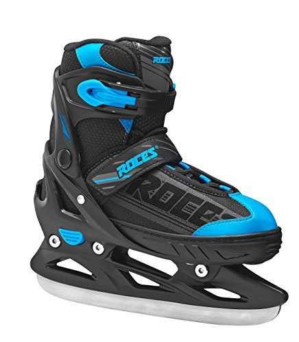 Roces Kinder Schlittschuhe Jokey Ice Boy Größenverstellbar verstellbar, Black-Blue, 26-29