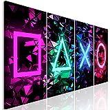 murando Cuadro en Lienzo for Gamers Consola de Juegos 160x60 cm 4 Partes Impresión en Material...