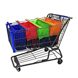 grocery trolley bags - Reusable Shopping Cart Bags and Grocery Organizer Designed for Trolley Carts by Modern Day Living