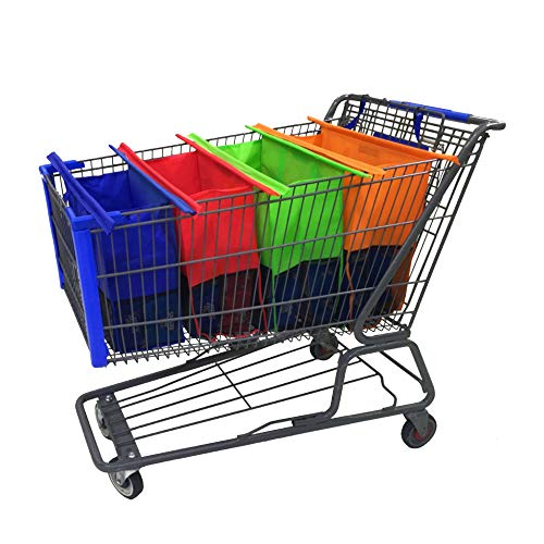 Reusable Shopping Cart Bags and Grocery Organizer Designed for Trolley Carts by Modern Day Living