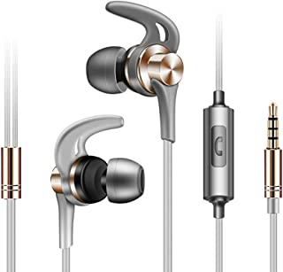 shiYsRL 3.5Mm Wired Earphone Heavy Bass In Ear Earphone Stereo Music Sport Headphone Earbuds With Mic One Size Golden