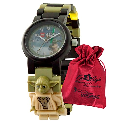 Lego Star Wars Meister Yoda Kinder Uhr 8021032 Armbanduhr + Säckchen ULE8021032 Analoguhr