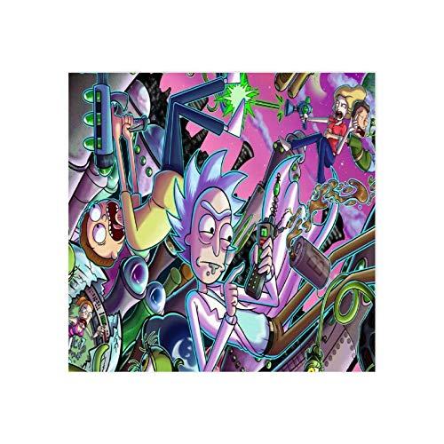 Moderne Wandkunstdrucke ohne Rahmen, Rick und Morty, Wandkunst, Poster, Team-Geschenk, ungerahmt - 40 x 40 cm