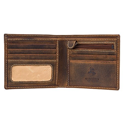 Visconti Hunter Leather Wallet Shield 707 RFID Protection (Oil Tan)