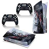 Star-Wars Jedi Games Themed PS5 Skin Stickers Full Body Vinyl Skins Wrap Decal Cover para Playstation 5 consola y 2 controladores anti polvo cubierta disco edición