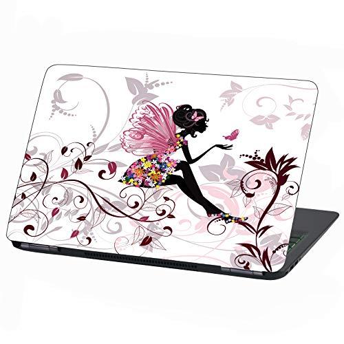 Laptop Folie Cover: Stranger Things Klebefolie Notebook Aufkleber Schutzhülle selbstklebend Vinyl Skin Sticker (13-14 Zoll, LP31 Flower Fairy)