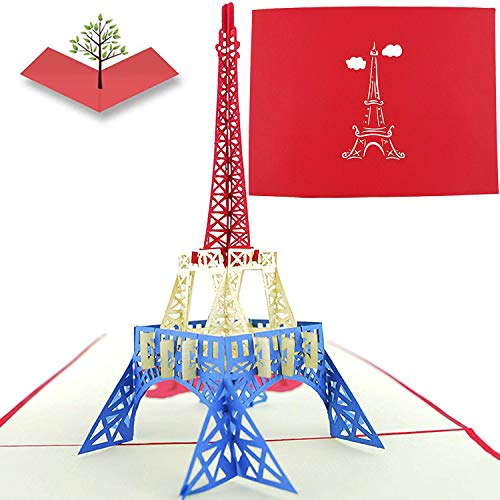 PopLife Cards Torre Eiffel, Parigi 3D Pop-Up Biglietto Di Auguri - Tutte Le Occasioni