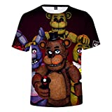 DIDIYICHU-Five Nights at Freddy-Camiseta Divertida para niños, Camiseta de Verano para niños y niñas, Camisetas de Dibujos Animados de Moda, Disfraz de Cosplay de Navidad-120