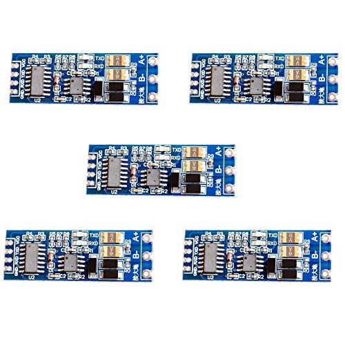 ZkeeShop 5PCS 3.3V 5V TTL to RS485 Adapter 485 to Serial Port UART Level Converter Module