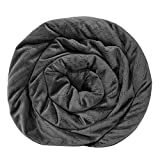 BlanQuil Quilted Weighted Blanket W/ Removable Cover (Charcoal 15lb)