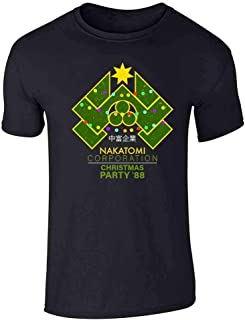 Pop Threads Nakatomi Plaza 1988 Christmas Party Costume Graphic Tee T-Shirt for Men