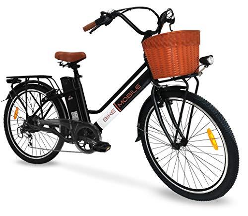 Bici Elettrica Ebike 250W Bicicletta Elettrica per Adulti 26'Bici Elettrica Cruiser/City bike Elettrica con Batteria 36v agli Ioni di Litio Rimovibile 10Ah, Shimano 6 Velocità (Bianco - Nero)