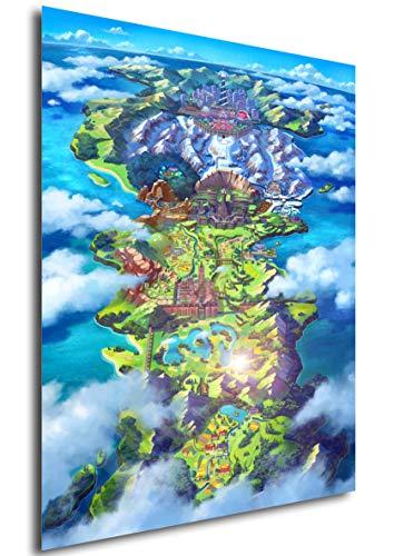 Instabuy Poster Plans - Pokémon Épée et Bouclier (A4 30x21)