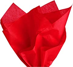 PMLAND Premium Quality Gift Wrapping Paper - Red - 15 Inches X 20 Inches 100 Sheets