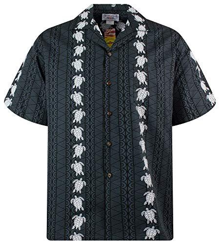 P.L.A. Pacific Legend Original Hawaiihemd, Kurzarm, Turtle New, Schwarz, L