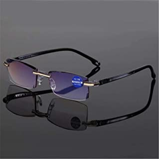 Progressive Dual-Purpose Reading Glasses with High Hardness and Anti-Blue Light, Anti-Radiation Progressive Far and Near D...