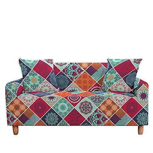 ASCV Funda de sofá Mandala Digital 3D Funda Protectora de sofá elástica Antideslizante Funda de sofá elástica Suave para Sala de Estar A4 4 plazas