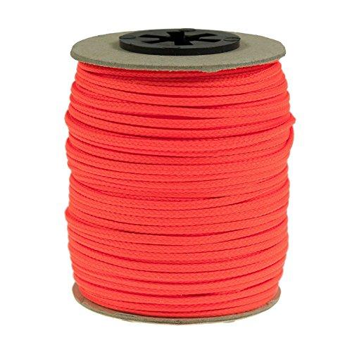 50 Meter Polyesterschnur Flechtschnur 2mm, 8-fach geflochten, Kumihimo Flechten, 30 Farben, Farbe:neon lachs