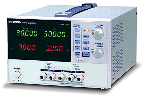 Instek GPD-3303S 195W Triple-Output Programmable Linear DC Power Supply, 30V DC, 3 Amp, 1mV, 1-milliamp Resolution