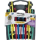 Master Lock 3043EURDAT Cuerdas elásticas con Ganchos Invertidos, óptimo para Sujetar Cargas Pequeñas,Camping,Mudanzas,Paquete de 10 Tensores, 2 x 25 cm + 2 x 45 cm + 2 x 60 cm + 2 x 80 cm + 2 x 100 cm
