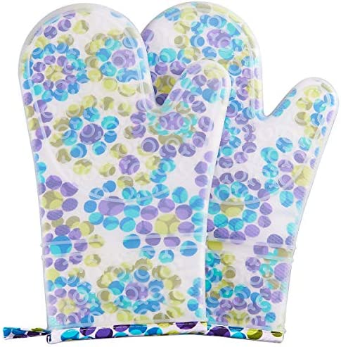 FAVIA 1 Pair Non Slip Silicone Oven Mitts with Cotton Lining Kitchen Gloves for Cooking Baking product image