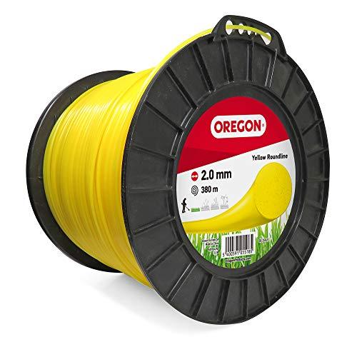 Oregon 69-359-Y Hilo de cortacésped Redondo Amarillo para cortadoras de césped y desbrozadoras, 2,0 mm x 380 m, 2.0mm x 380m