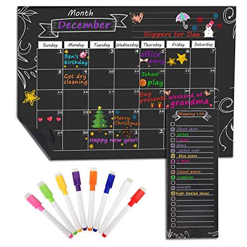 MoKo Magnetisch Kalender für Küche Kühlschrank, 16