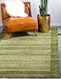 Unique Loom Del Mar Collection Contemporary Transitional Light Green Area Rug (6' 0 x 9' 0)