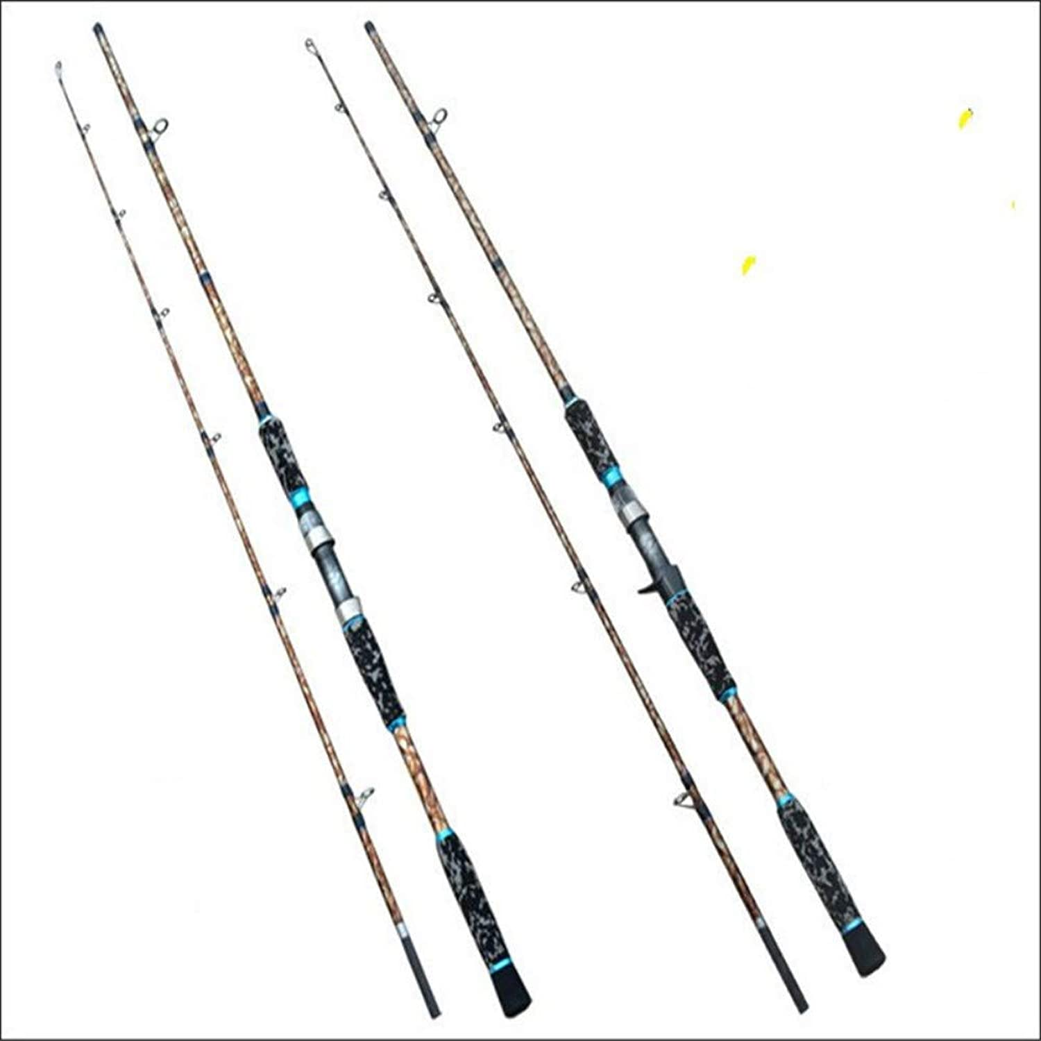 YGDYDBD Camouflage 2.1m Casting & Spinning Angelrute XH Power Eva Griff Carbon Fiber Lure Angelrute