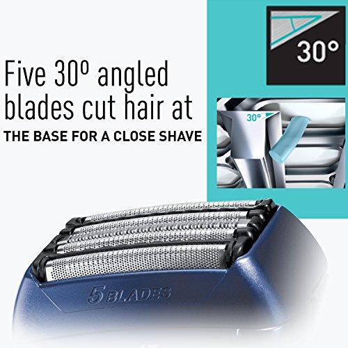 Panasonic ES-LV61-A Arc5 Men's Electric Razor, 5-Blade Cordless with Multi-Flex Pivoting Shaver Head, Wet/Dry Operation