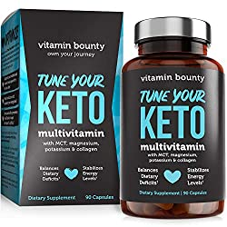 💙 BALANCE & OPTIMIZE YOUR KETO DIET - Supports your vitamin and mineral needs specific to the keto diet. 💙 STABILIZE ENERGY - Helps to balance and maintain your energy level. 💙 KETO BLEND - Formulated with a specialized Keto Blend (MCT, magnesium, po...