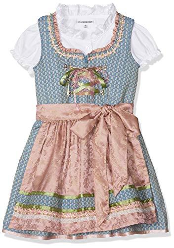 Stockerpoint Mädchen Kinderdirndl Lucy Dirndl, Mehrfarbig (Blau Blau), 110/116 (Herstellergröße: 110-116)