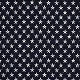 Swafing Softshell DIY Stoff Meterware Sterne weiß/schwarz