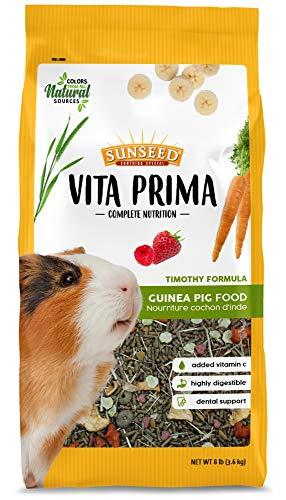 Sunseed Vita Prima Complete Nutrition Guinea Pig Food, 8 LBS (59769),Multicolor