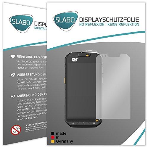 Slabo 2 x Bildschirmfolie für Cat S60 Bildschirmschutzfolie Zubehör No Reflexion MATT - Made IN Germany